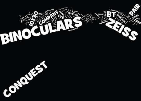 ZEISS BINOCULARS P BT Text Background Word Cloud Concept Ilustração