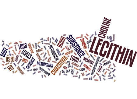 LECITHIN Text Background Word Cloud Concept Illustration