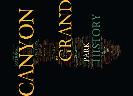 GRAND CANYON HISTORY Text Background Word Cloud Concept