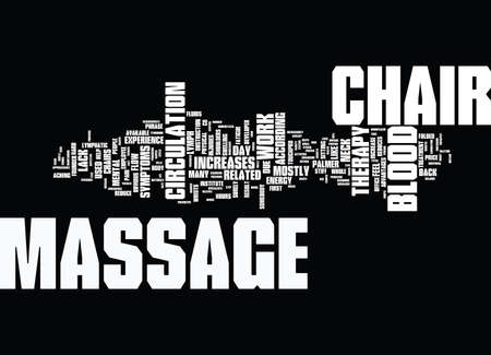 YOUR MASSAGE CHAIR YOU LL WONDER HOW YOU EVER LIVED WITHOUT IT Text Background Word Cloud Concept