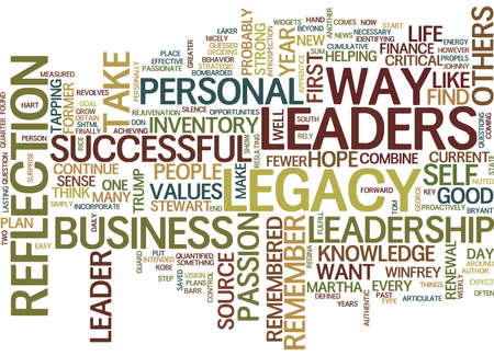YOUR LEADERSHIP LEGACY Text Background Word Cloud Concept