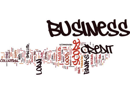 Z BUSINESS CREDIT SCORE Text Background Word Cloud Concept