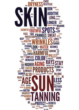 YOUTHFUL AND VIBRANT SKIN Text Background Word Cloud Concept Illustration