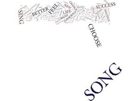 당신의 노래는 당신의 성공 텍스트 배경 단어 구름 개념 일러스트