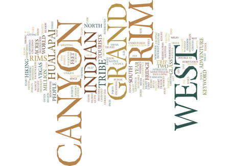 GRAND CANYON WEST RIM Text Background Word Cloud Concept
