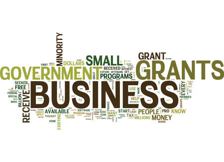 GOVERNMENT GRANTS WHAT ARE THEY AND HOW TO GET THEM Text Background Word Cloud Concept