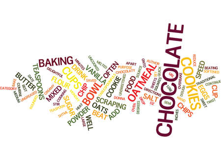 BEST COOKIES NO BAKE ROCKY ROAD CHOCOLATE BARS Text Background Word Cloud Concept