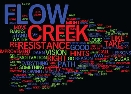 LESSONS FROM THE CREEK Text Background Word Cloud Concept