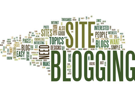 YOUR OWN BLOG Text Background Word Cloud Concept