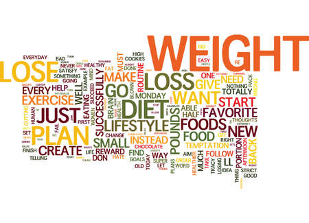 YOUR BRAIN CAN HELP YOU LOSE WEIGHT OR MAKE YOU FAT Text Background Word Cloud Concept