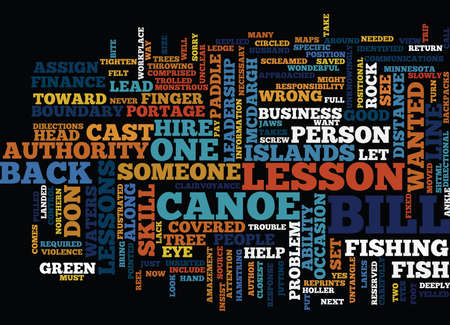 LESSONS IN LEADERSHIP WHAT NOT TO DO FROM A CANOE Text Background Word Cloud Concept