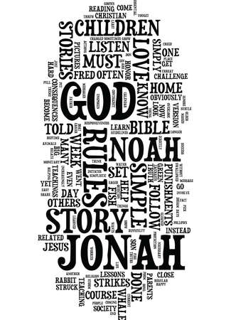 LESSONS WE CAN LEARN FROM JONAH AND THE WHALE Text Background Word Cloud Concept