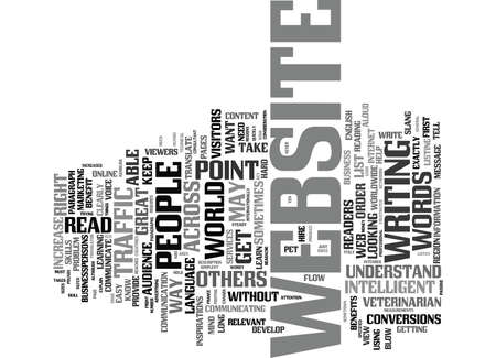YOUR WAY WITH WORDS IS KEY TO INCREASED WEBSITE TRAFFIC Text Background Word Cloud Concept