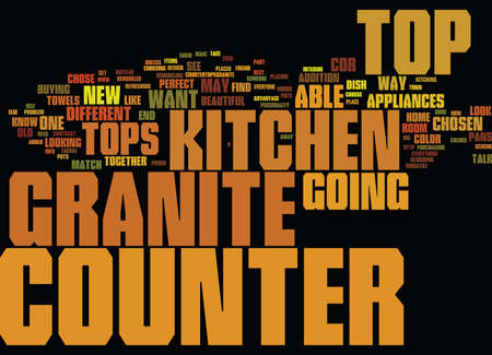 GRANITE COUNTER TOPS PARTII Text Background Word Cloud Concept