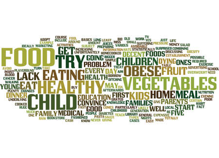 YOUR OBESE CHILD OBESITY CAN KILL THEM YOUNG Text Background Word Cloud Concept Stock Vector - 82598023