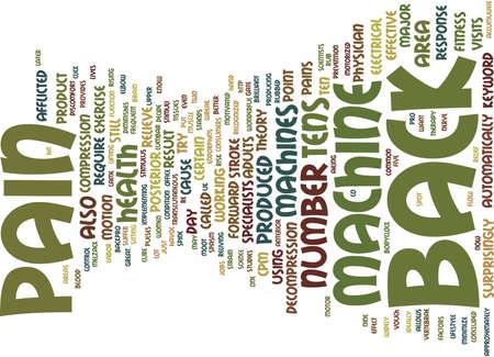Z BACK PAIN MACHINE Text Background Word Cloud Concept