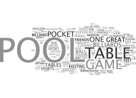 YOUR SPORT IS POOL Text Background Word Cloud Concept