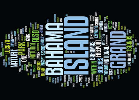 GRAND BAHAMA ISLAND Text Background Word Cloud Concept Ilustrace