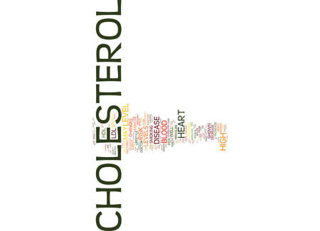 take charge: YOUR DOCTORS SAYS YOU HAVE HIGH CHOLESTEROL NOW WHAT Text Background Word Cloud Concept Illustration