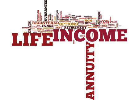 LIFE ANNUITIES OVERVIEW Text Background Word Cloud Concept Illustration