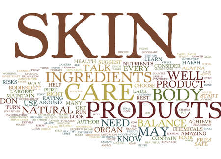 YOUR SKIN DESERVES A BREAK Text Background Word Cloud Concept