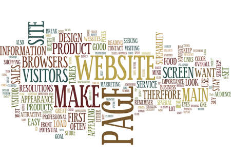 YOUR WEBSITEIS YOU Text Background Word Cloud Concept Ilustração