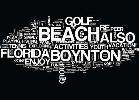 well laid: YOUTH ACTIVITIES AT BOYNTON BEACH FLORIDA Text Background Word Cloud Concept