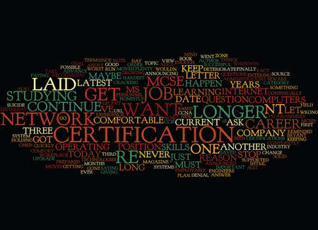 YOUR IT CAREER BEWARE THE COMFORT ZONE Text Background Word Cloud Concept