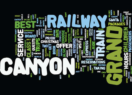 GRAND CANYON RAILWAY Text Background Word Cloud Concept