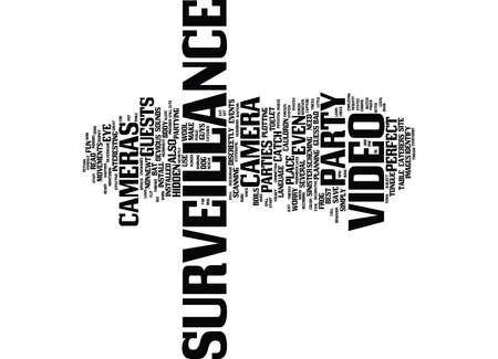 LET S PARTY LET YOUR VIDEO SURVEILLANCE SPILL THE BEANS Text Background Word Cloud Concept