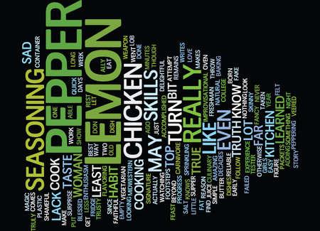 LEMON PEPPER Text Background Word Cloud Concept