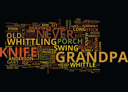 GRANDPA S KNIFE Text Background Word Cloud Concept