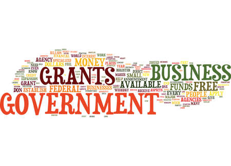GRANTS FOR BUSINESS Text Background Word Cloud Concept