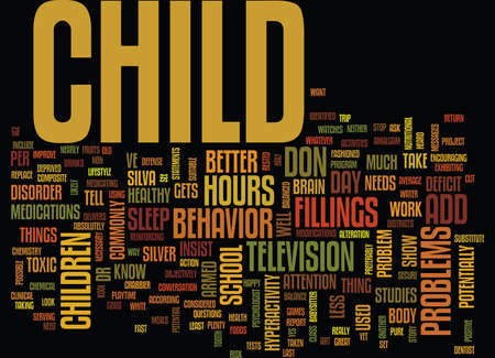YOUR CHILD HAS ADD Text Background Word Cloud Concept Illustration
