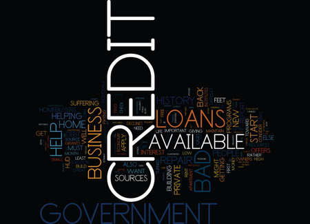 GOVERNMENT CREDIT REPAIRS Text Background Word Cloud Concept