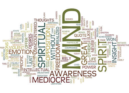 YOUR MEDIOCRE MIND Text Background Word Cloud Concept Stock Vector - 82597616
