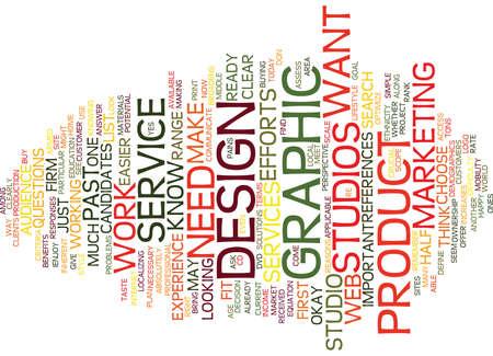 GRAPHIC DESIGN STUDIOS Text Background Word Cloud Concept
