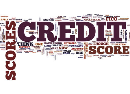Z CREDIT SCORES Text Background Word Cloud Concept Illustration