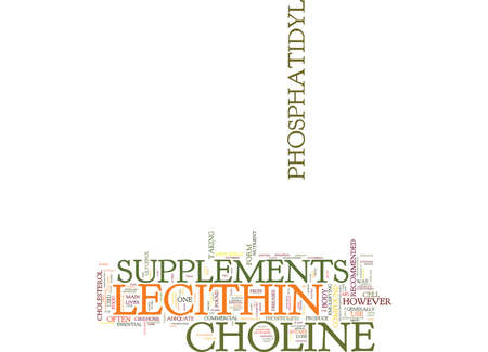LECITHIN SUPPLEMENTS Text Background Word Cloud Concept