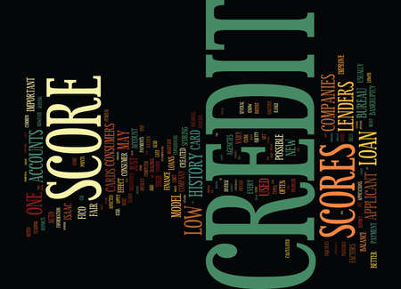 unneeded: YOUR CREDIT SCORES AGAIN Text Background Word Cloud Concept