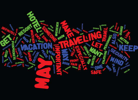 YOUR TRAVEL SAFETY GUIDE Text Background Word Cloud Concept