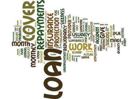 LOAN COVER EXPLAINED IN SIMPLE TERMS Text Background Word Cloud Concept Illusztráció