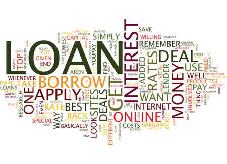 LOAN Text Background Word Cloud Concept