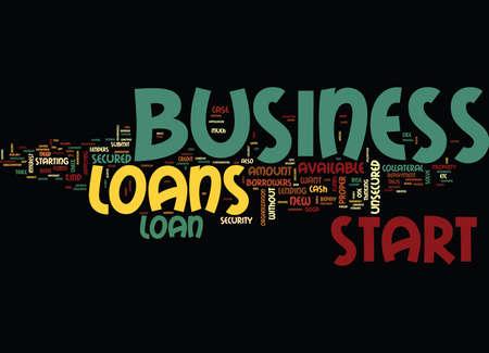 대출은 새로운 비즈니스를 시작하는 데 사용할 수 있습니다 텍스트 배경 단어 구름 개념