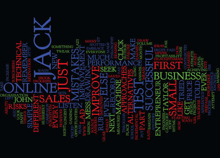 LISTEN TO ME LAD SAYS JACK Text Background Word Cloud Concept Illustration
