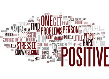 LITTLE KNOWN WAYS TO BE A POSITIVE PERSON Text -Word Cloud Concept Çizim