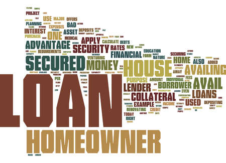 advantages: LOANS FOR HOMEOWNER Text Background Word Cloud Concept