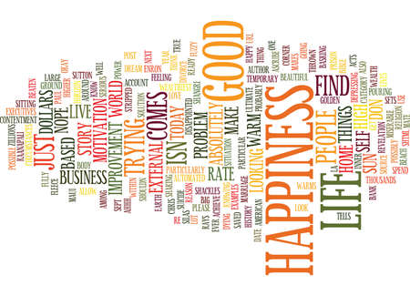 LIFE IS GOOD Text Background Word Cloud Concept
