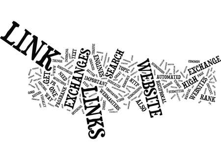 LINK EXCHANGE Q AND A Text - Word Cloud Concept Illustration