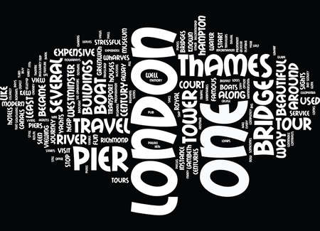 LONDON FROM THAMES Text Background Word Cloud Concept